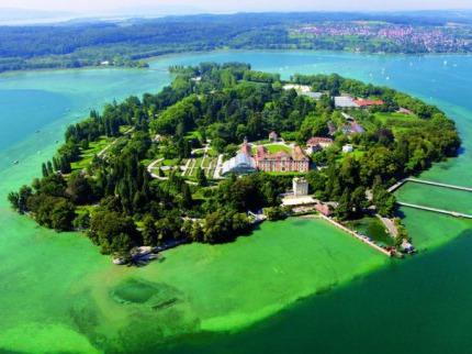 Bodamské jezero, Rýnské vodopády a ostrov Mainau
