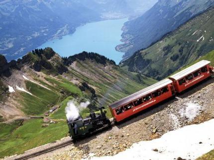 Horskými švýcarskými vláčky